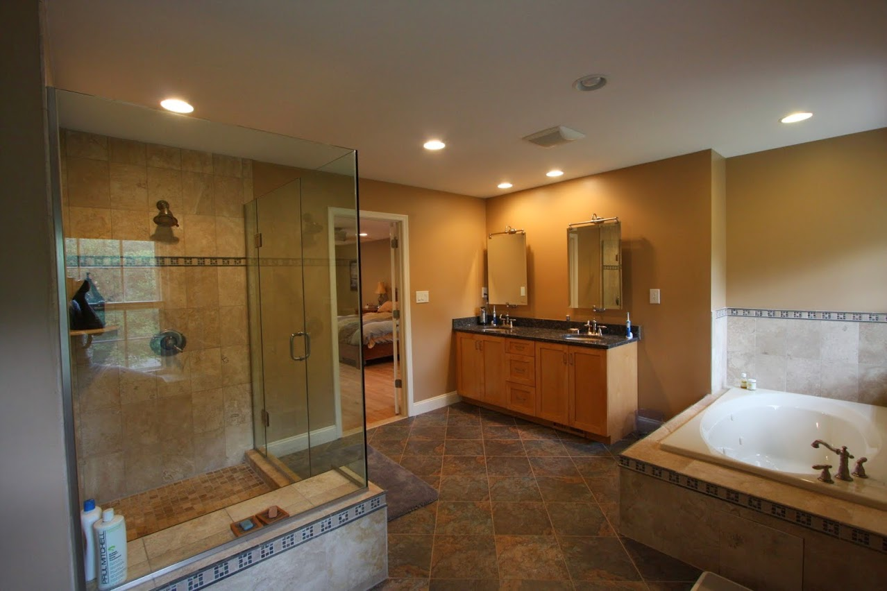 Master bathroom remodeling before after updating a 90s for Master bath renovation
